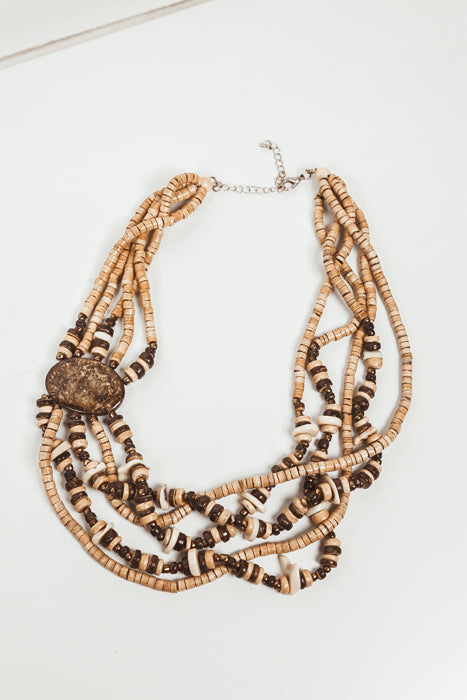 Isla Layered Beaded Necklace - Haute & Rebellious