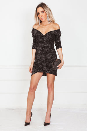 Sparkle Body-Con Mini Dress