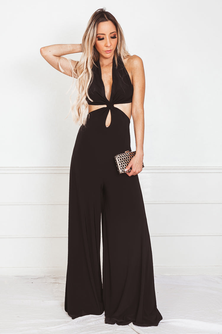 9863f37229e Open Back Jumpsuit with Keyhole Detail