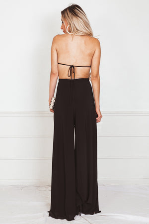 Open Back Jumpsuit with Keyhole Detail