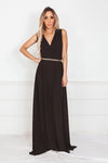 Elegant Sleeveless Maxi Dress - Black