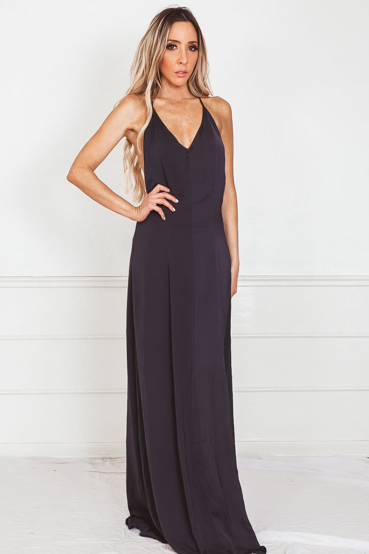 Elegant Maxi Dress - Navy