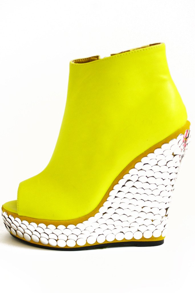 HIGHLIGHTER YELLOW WEDGE