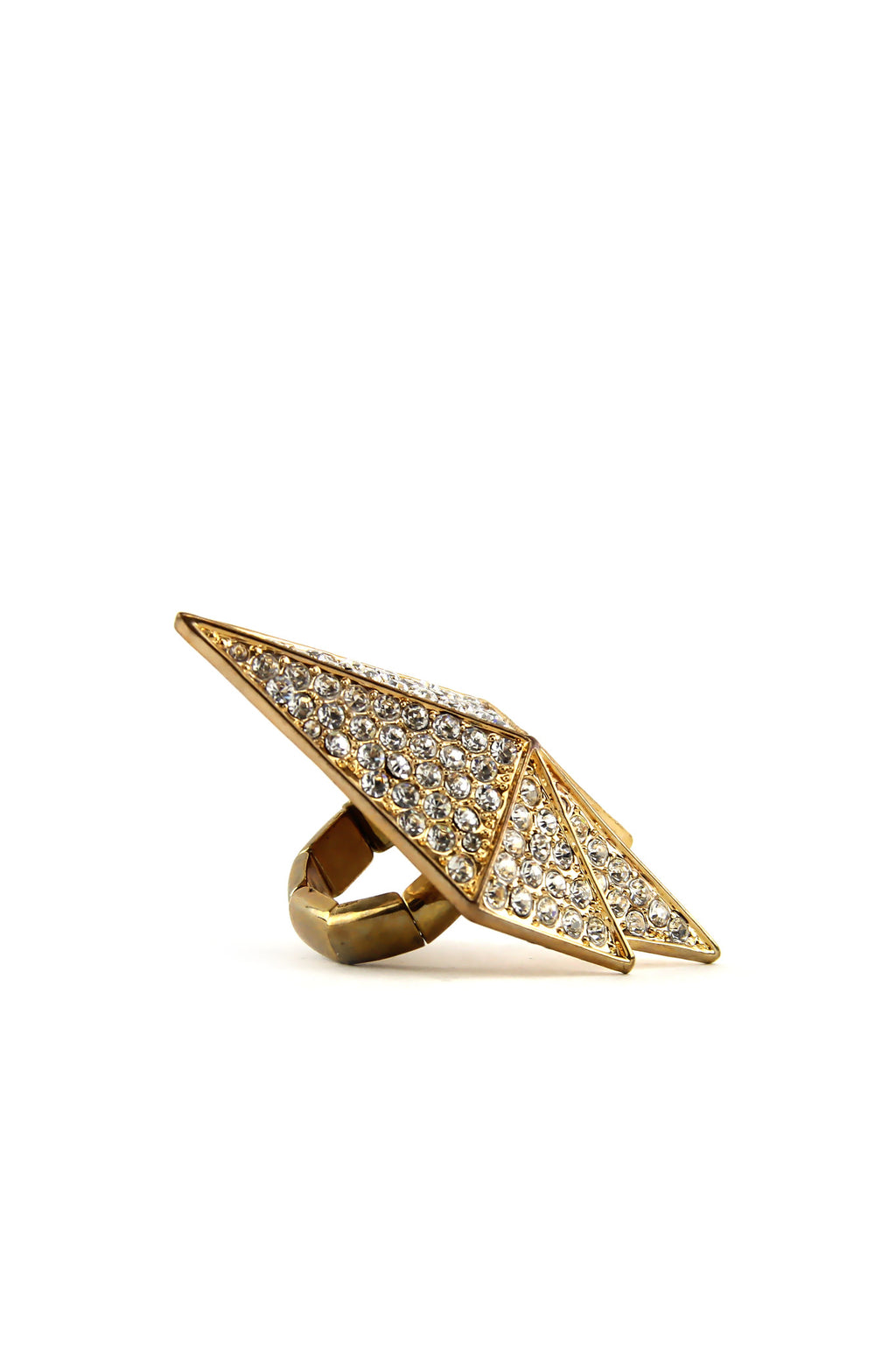 SHIELDED CRYSTALS RING - GOLD - Haute & Rebellious
