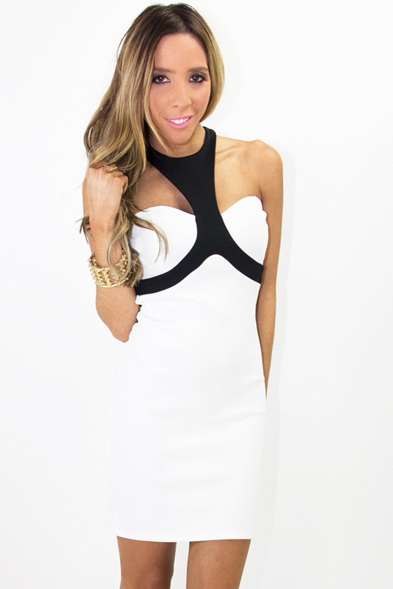 FARAH BODYCON DRESS - White - Haute & Rebellious