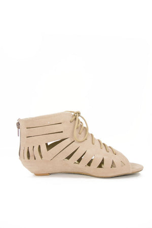 CUTOUT SANDALS - Tan - Haute & Rebellious