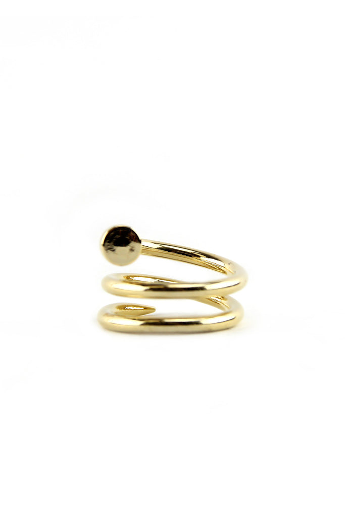 SOLID SPIRAL NAIL HEAD RING