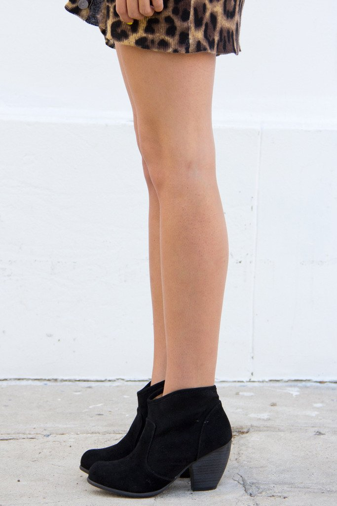 ALEXA SUEDE ANKLE BOOT - Black