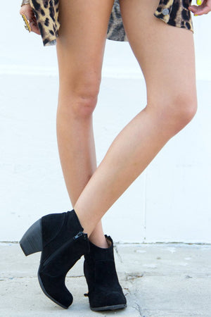 ALEXA SUEDE ANKLE BOOT - Black - Haute & Rebellious