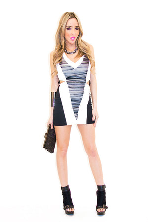 TRINITY CONTRAST DRESS - Haute & Rebellious