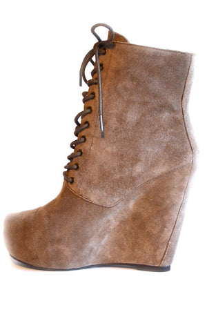 Haute & Rebellious LEATHER WEDGE BOOT in [option2]