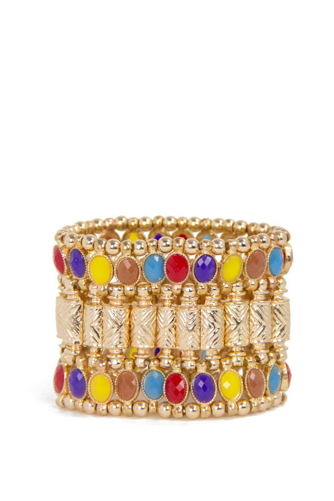 Boho Colored Bracelet - Gold (Final Sale)
