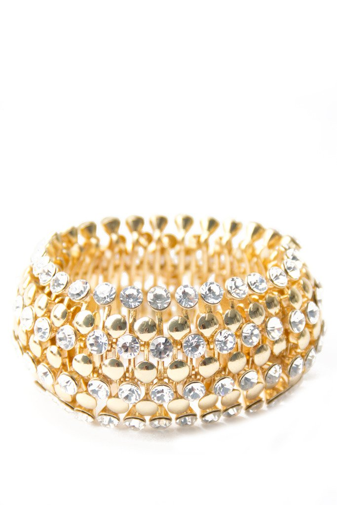 CRYSTAL BRACELET - gold - Haute & Rebellious
