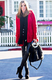 WINTER WOOL COAT - Red