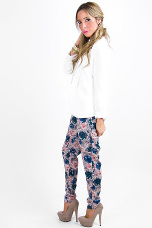 ALICE FLORAL PRINT PANTS - Haute & Rebellious