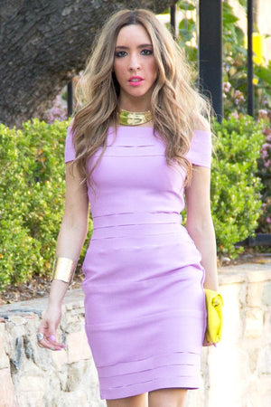 BANDAGE FRAY MINI DRESS - Purple - Haute & Rebellious