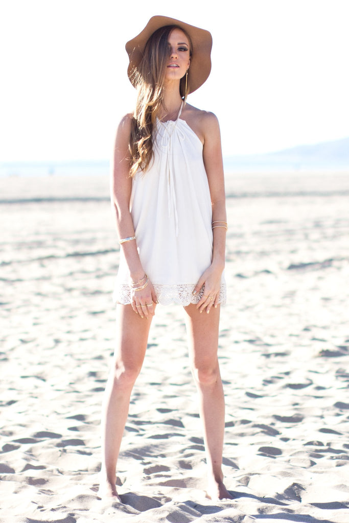 Gillian Halter Dress - White - Haute & Rebellious