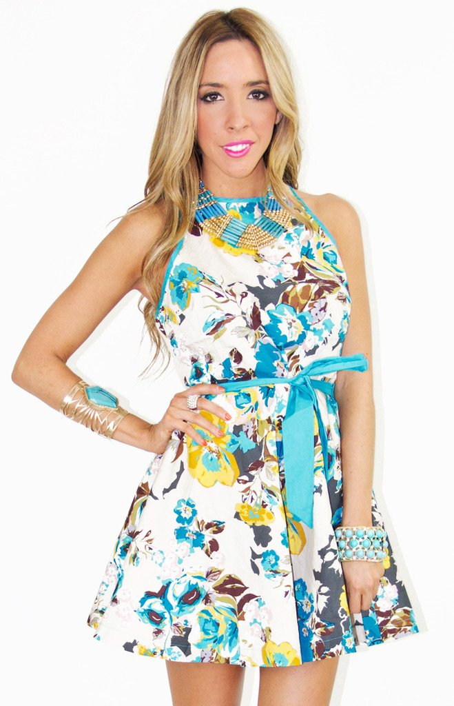 A-LINE FLOWER PRINT DRESS - Haute & Rebellious