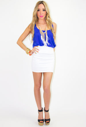 WHITE FRINGED NECKLACE - Haute & Rebellious