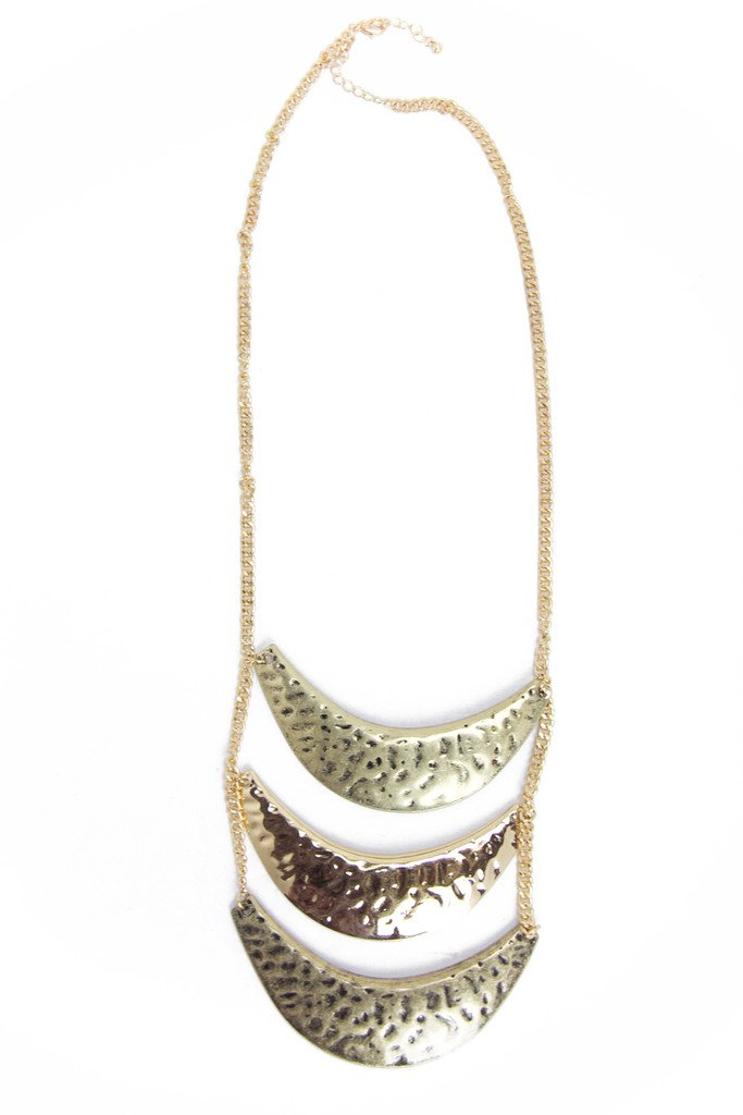 MULTI PLATED NECKLACE - Gold