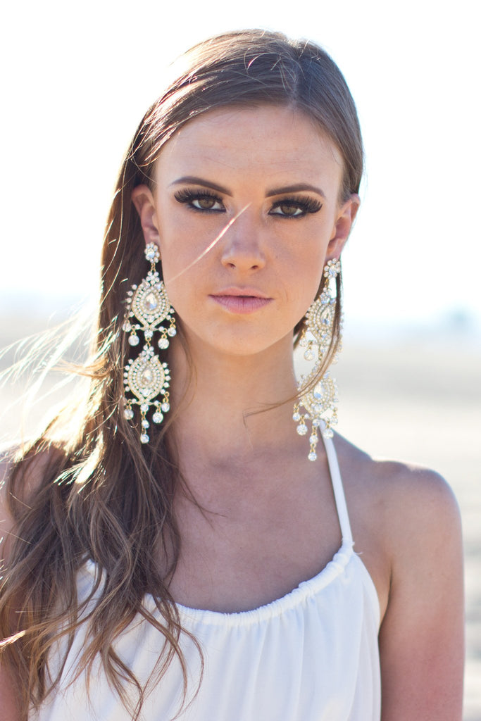 Lana Draped Crystal Earring - Haute & Rebellious