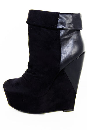 TALL WEDGE - Black - Haute & Rebellious