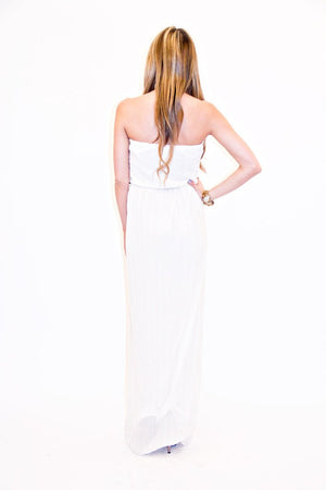 ISABEL LONG DRESS - White/Gold - Haute & Rebellious