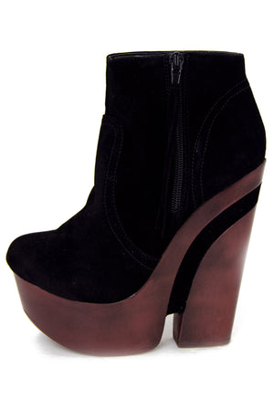 WOODEN WEDGE - Black - Haute & Rebellious