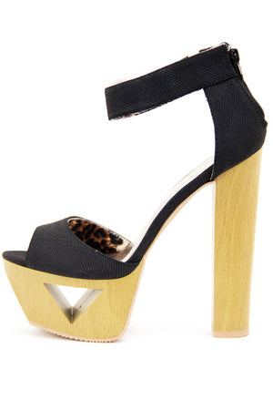 PAIGE WOOD PLATFORM - Black - Haute & Rebellious