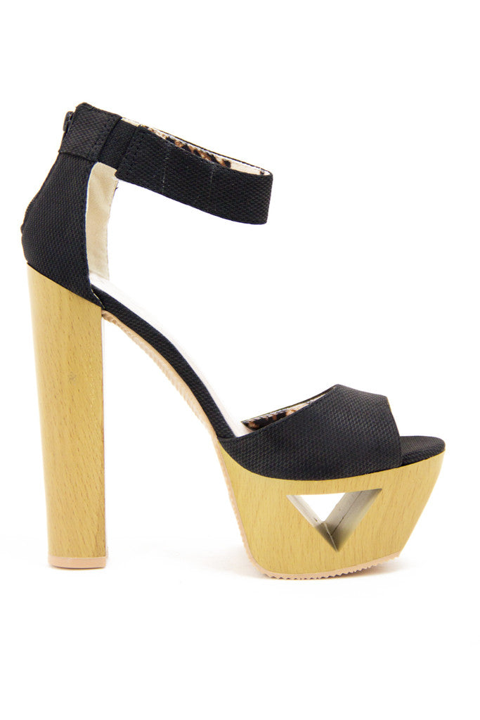 PAIGE WOOD PLATFORM - Black