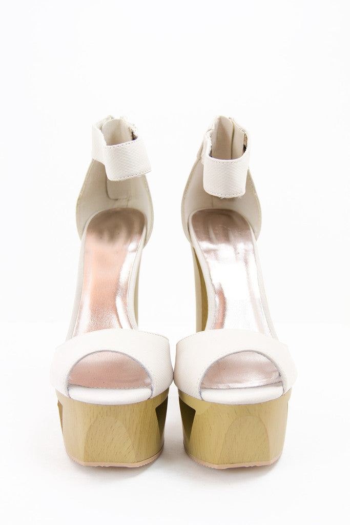 PAIGE WOOD PLATFORM - Off White