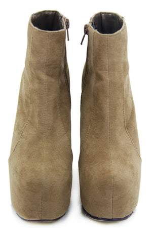 DONNA PLATFORM BOOT - Tan Suede - Haute & Rebellious