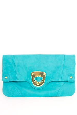 OVERSIZED CLUTCH - Turquoise - Haute & Rebellious