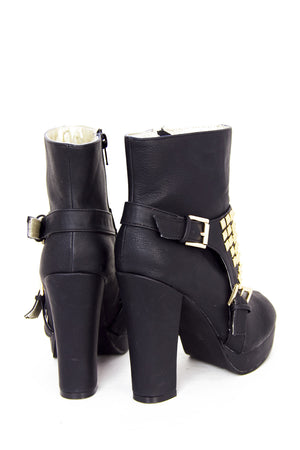 STUDDED BOOTS - Black / Gold - Haute & Rebellious