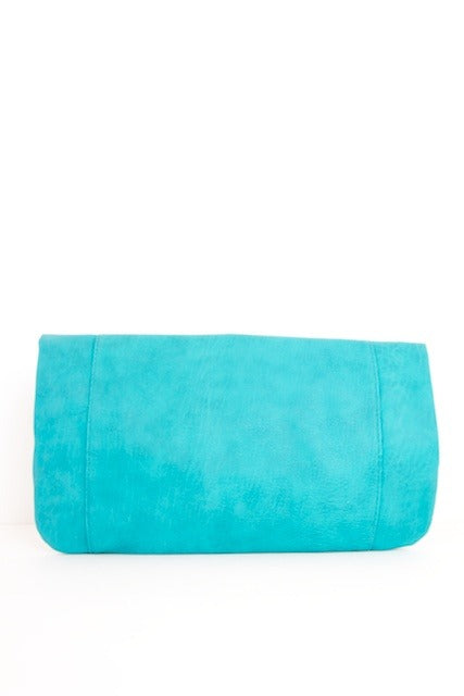 OVERSIZED CLUTCH - Turquoise