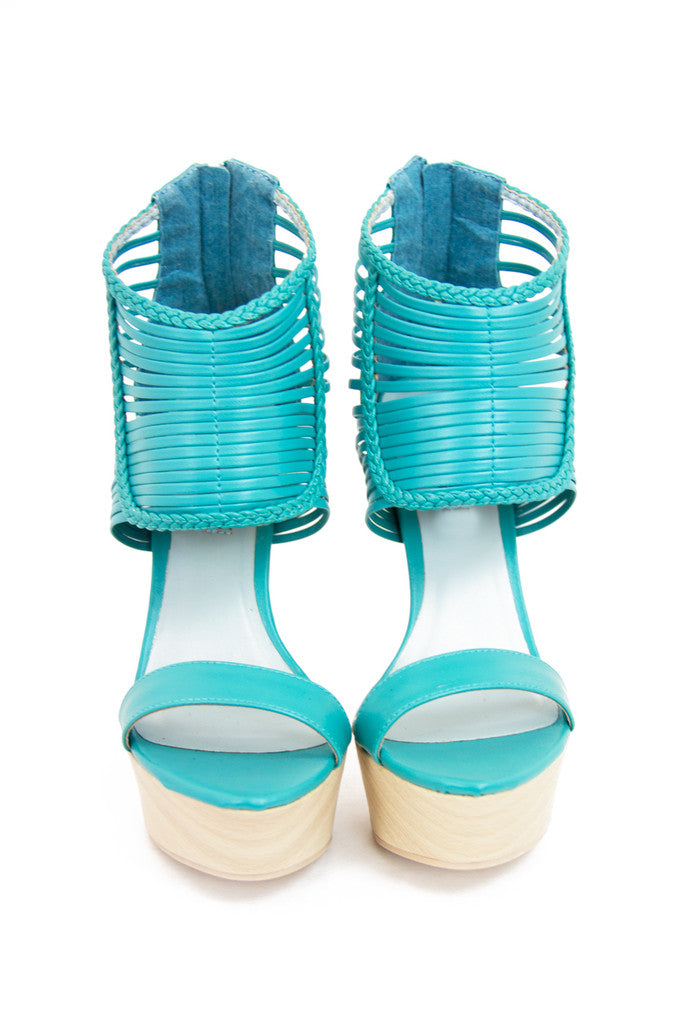 SHARON HEELS - Electric Mint