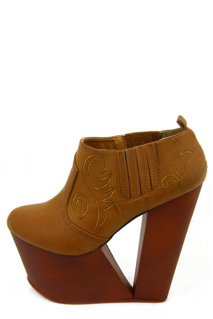 VALERIE WOODEN PLATFORM - Brown
