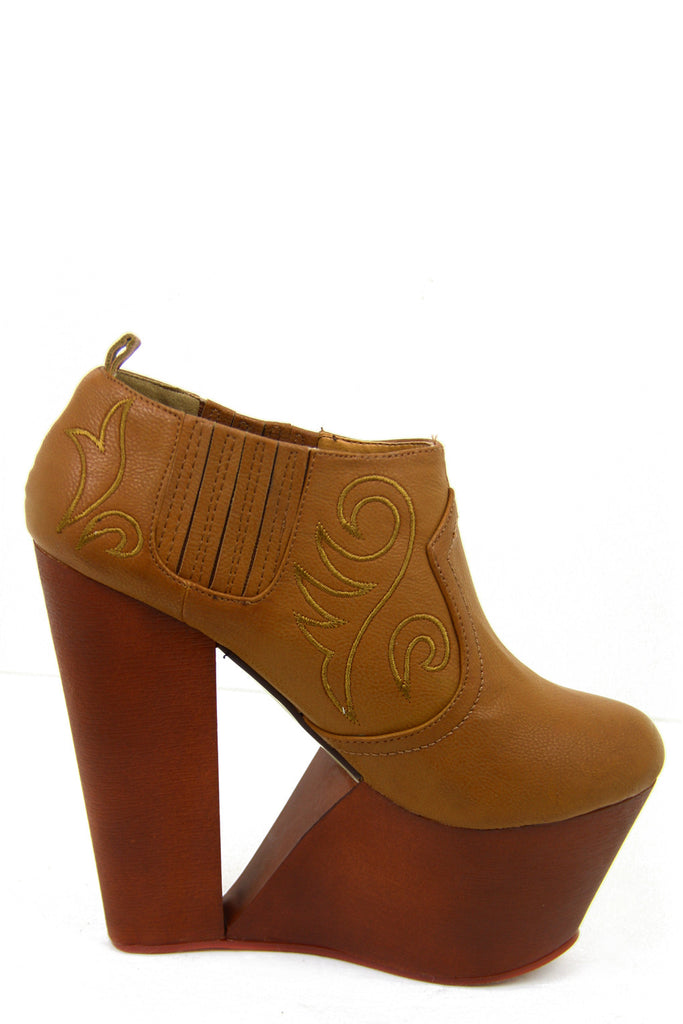 VALERIE WOODEN PLATFORM - Brown - Haute & Rebellious
