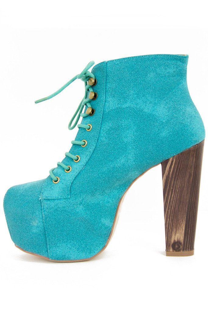 ELECTRIC TEAL BOOTS - Haute & Rebellious