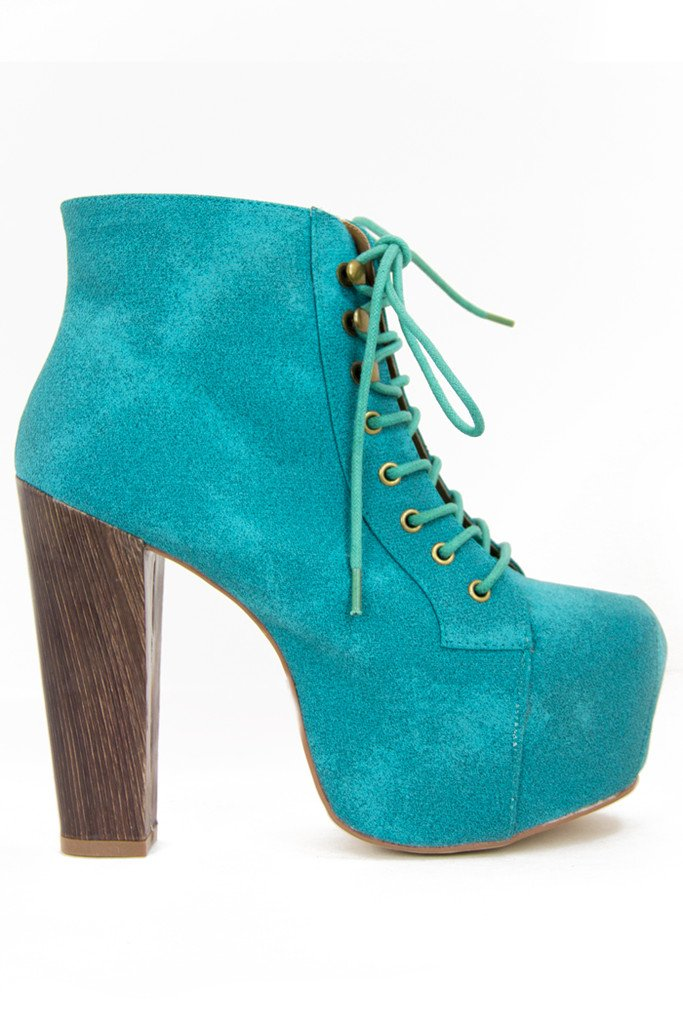 ELECTRIC TEAL BOOTS