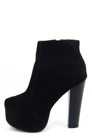 DONNA PLATFORM BOOT - Black Suede - Haute & Rebellious