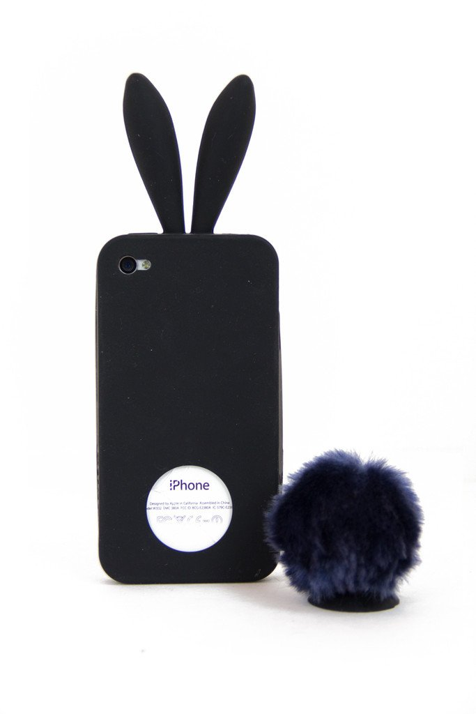 BUNNY EARS IPHONE COVER - Black