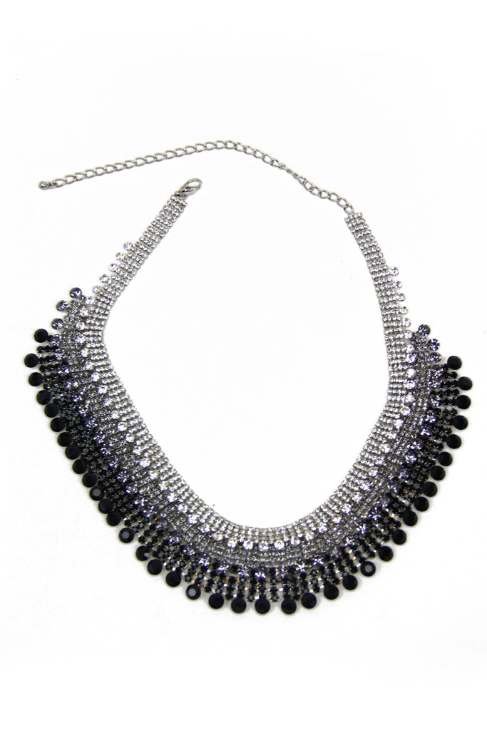 THREE LAYER CRYSTAL NECKLACE