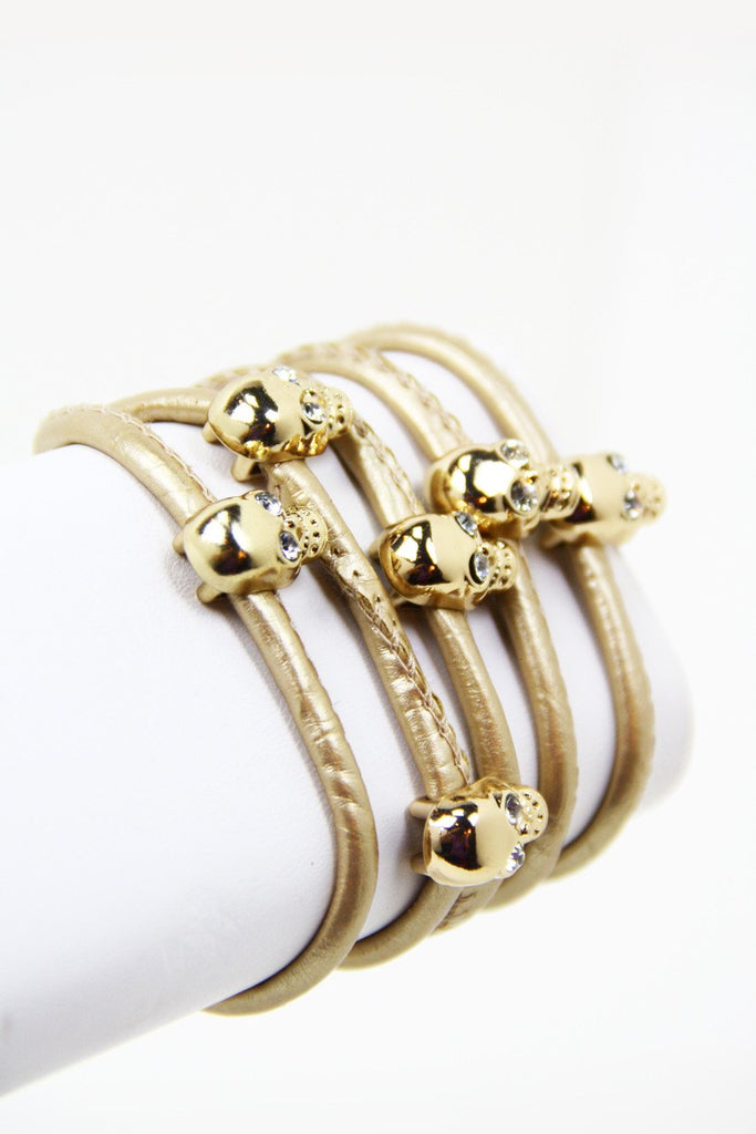 GOLD SKULLS BRACELET/NECKLACE/BELT - Gold