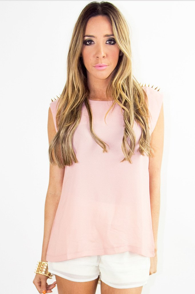 ABBLE GOLD SPIKE TOP - Rose (Final Sale)
