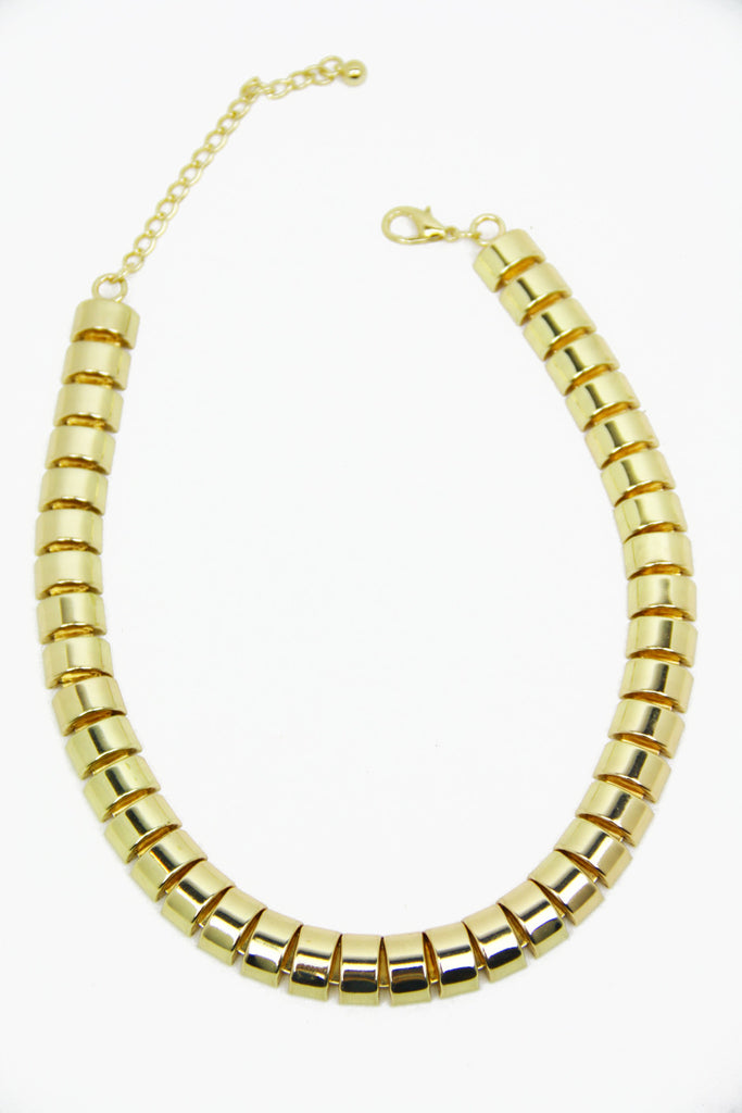 SNAKE CHAIN ROPE NECKLACE - Gold