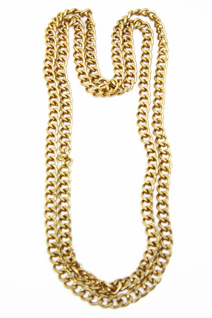 MARKY CHAIN NECKLACE - Copper/Gold