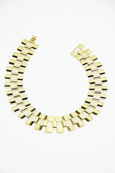 GOLD WATCH BAND NECKLACE
