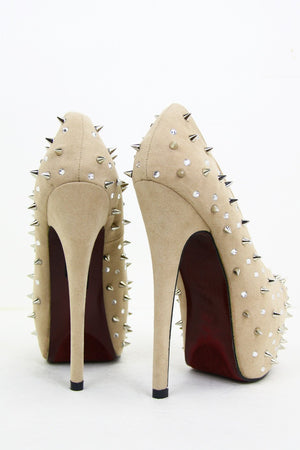 CRYSTALS & SPIKES HEEL - Haute & Rebellious