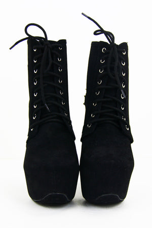 STUDDED CHUNKY HEEL - Black - Haute & Rebellious